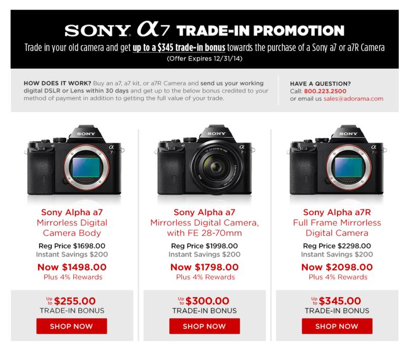 Sony Trade-ins