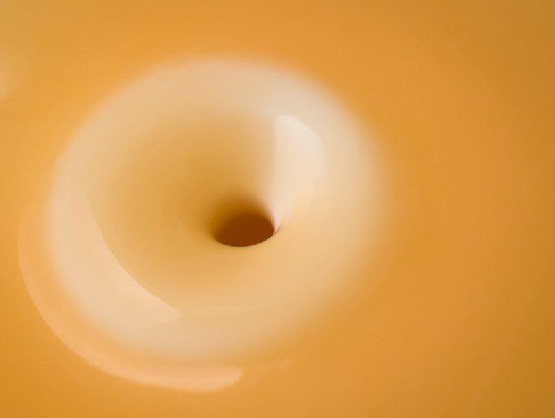 Liquid on top of despenser.