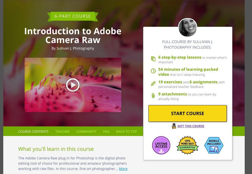 Intro to Adobe Camera Raw 6-Part Course