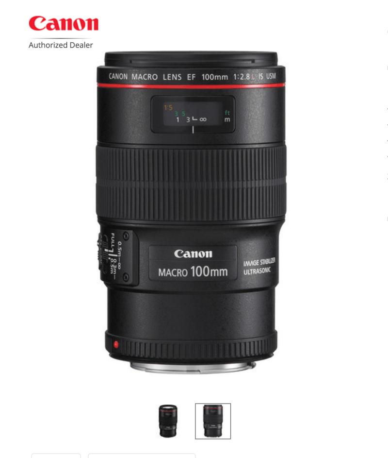 Canon 100 mm Macro Lens