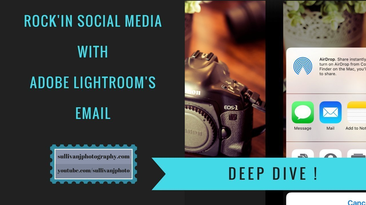 Rock'in Social Media – 10 Fast Steps using Lightroom's email.