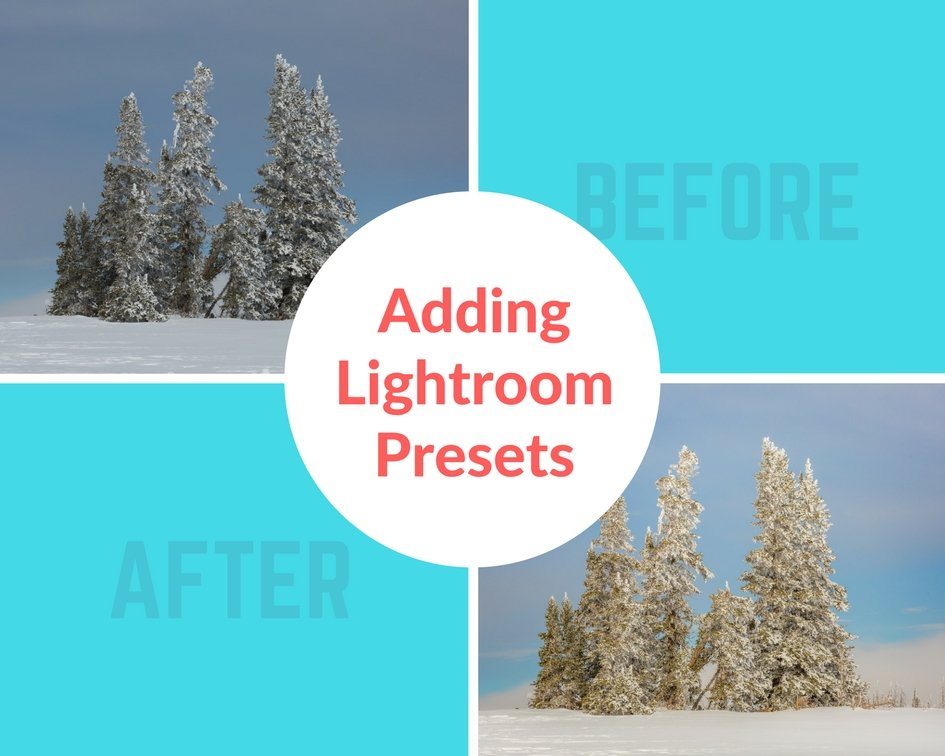 Adding Lightroom Presets to Your Work