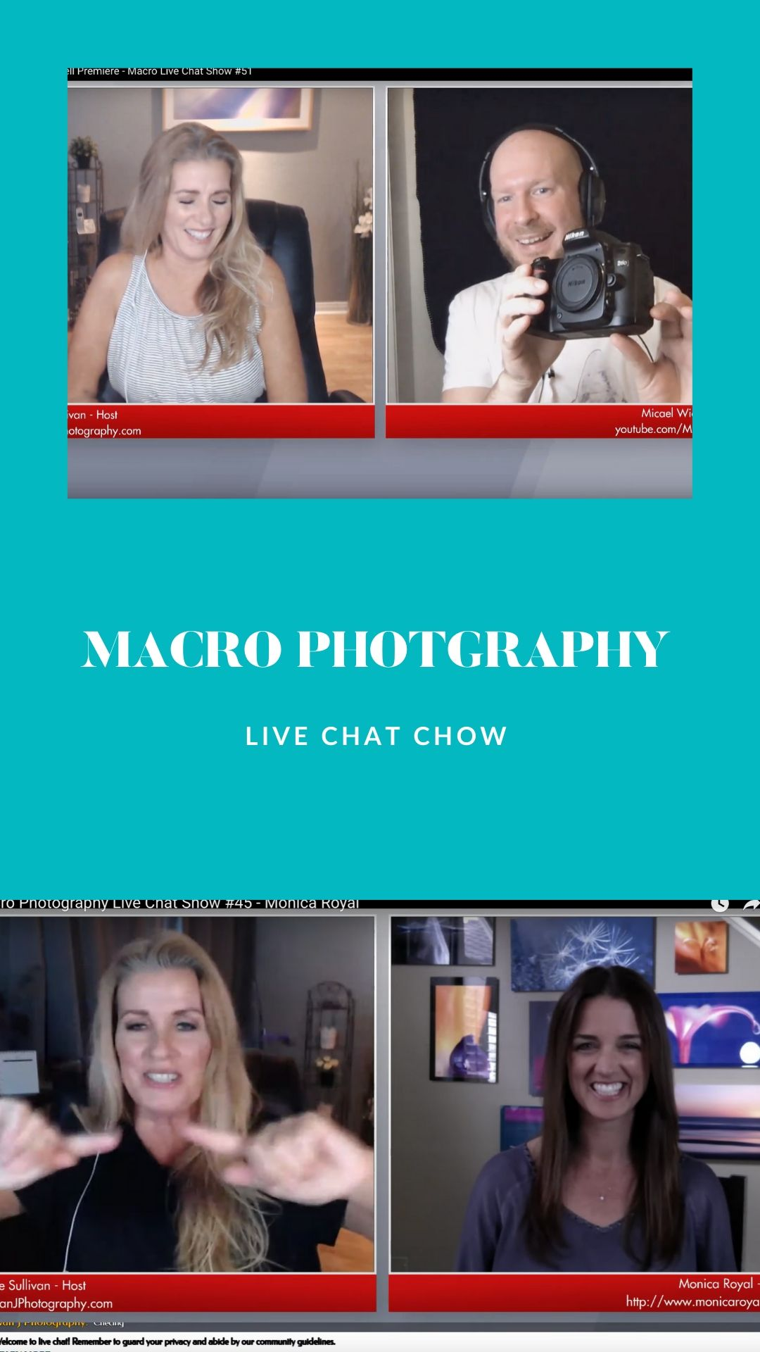 macro photography live chat show