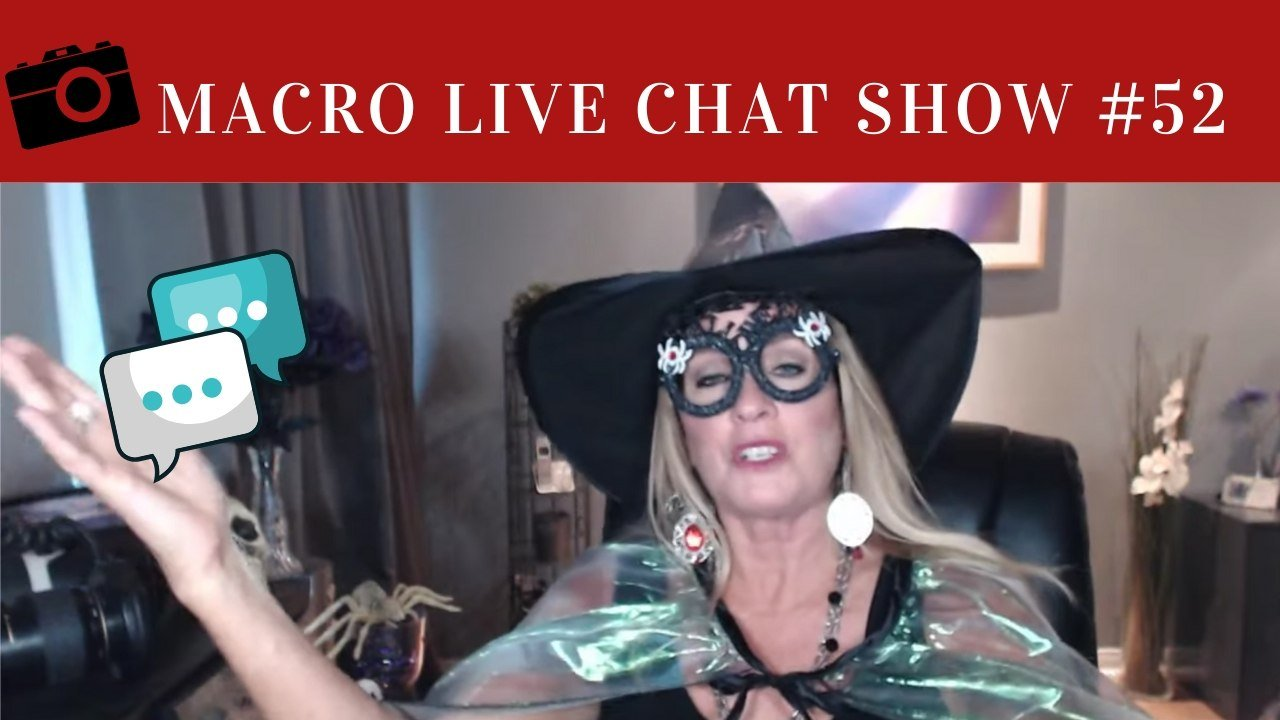macro live chat show halloween