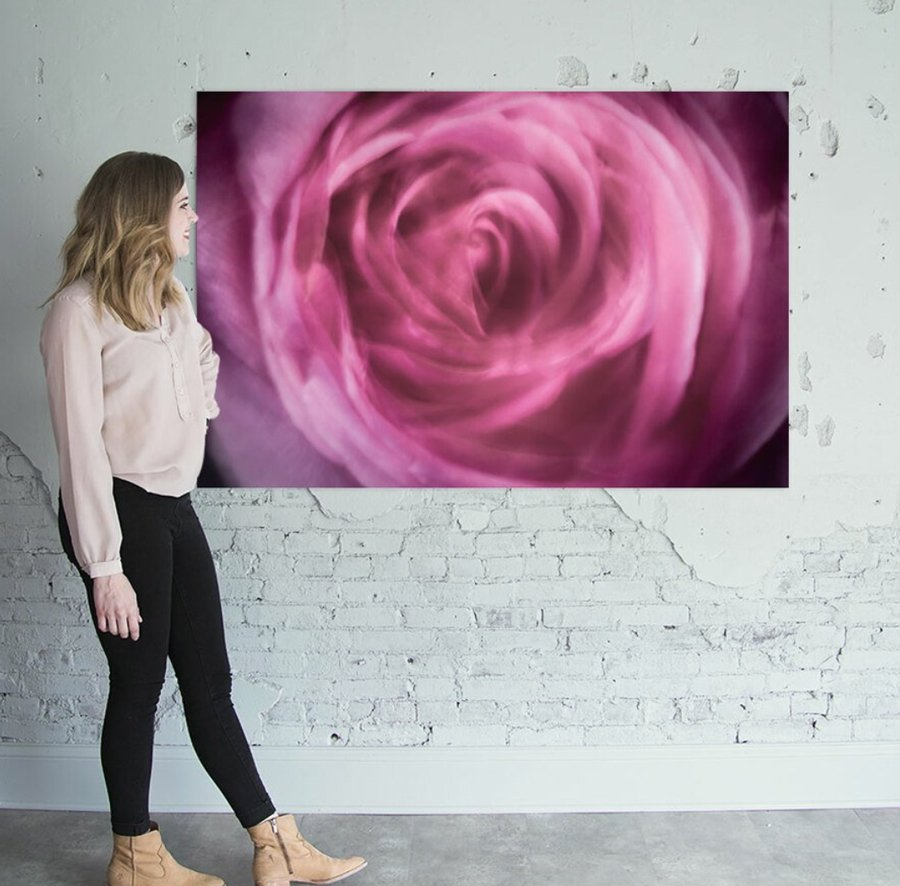 pink swirl photograph for sale